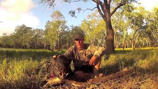 Lov divočáka lukem Austrálie 2013