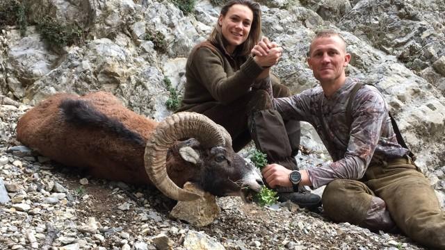 Lov muflona v Alpách